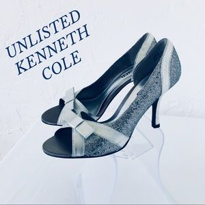 UNLISTED KENNETH COLE METALLIC D'ORSAY PUMPS